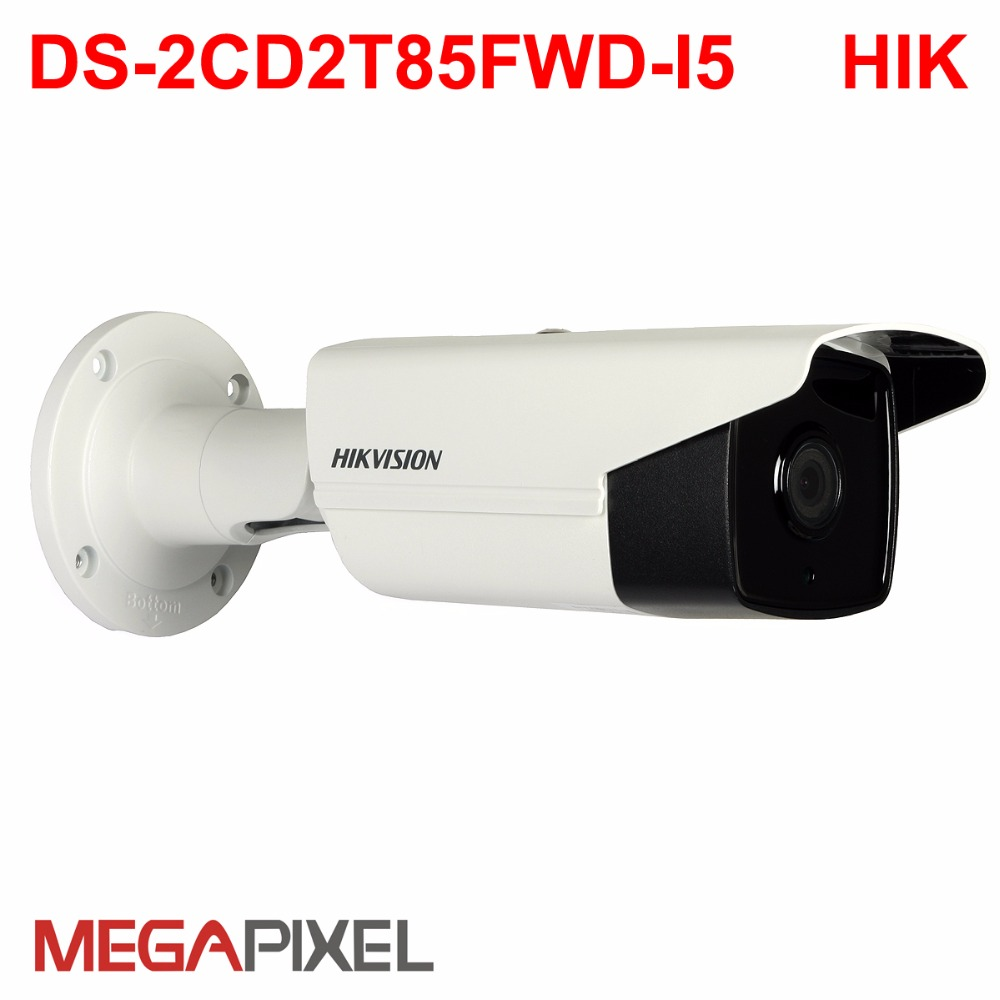 8MP 4K POE IP Camera DS-2CD2T85FWD-I5 IP67 Security camera IR Bullet Network Camera cctv video camcorder hikvision nvr supported 8mp ip camera cctv video surveillance security poe ds 2cd2085fwd is audio for hikvision dahua dvr hik connect ivm4200 camcorder