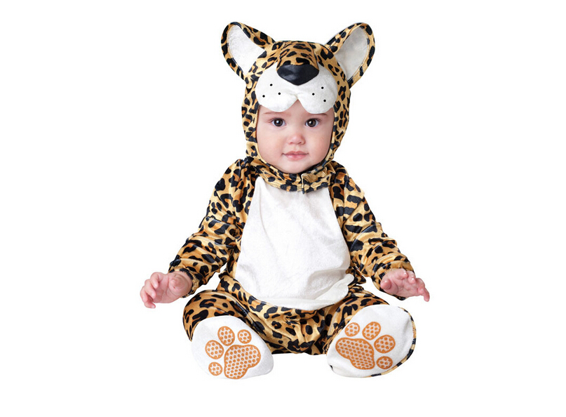 New Arrival High Quality Baby Boys Girls Halloween leopard Costume Romper Kids Clothing Set Toddler Co