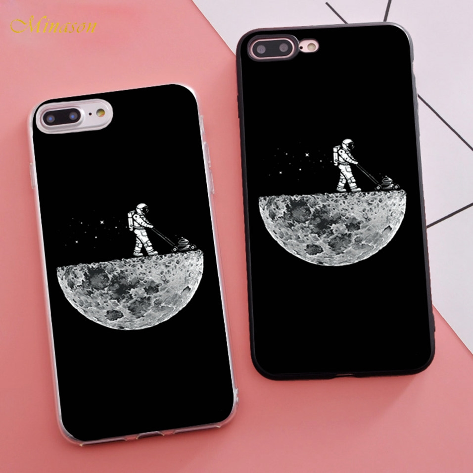 Cellphones & Telecommunications Conscientious Minason Cartoon Funny Outer Space Clear Moon Astronaut Planet Phone Case For Iphone X 5s Xr Xs Max Se 6 S 6s 7 8 Plus Cover