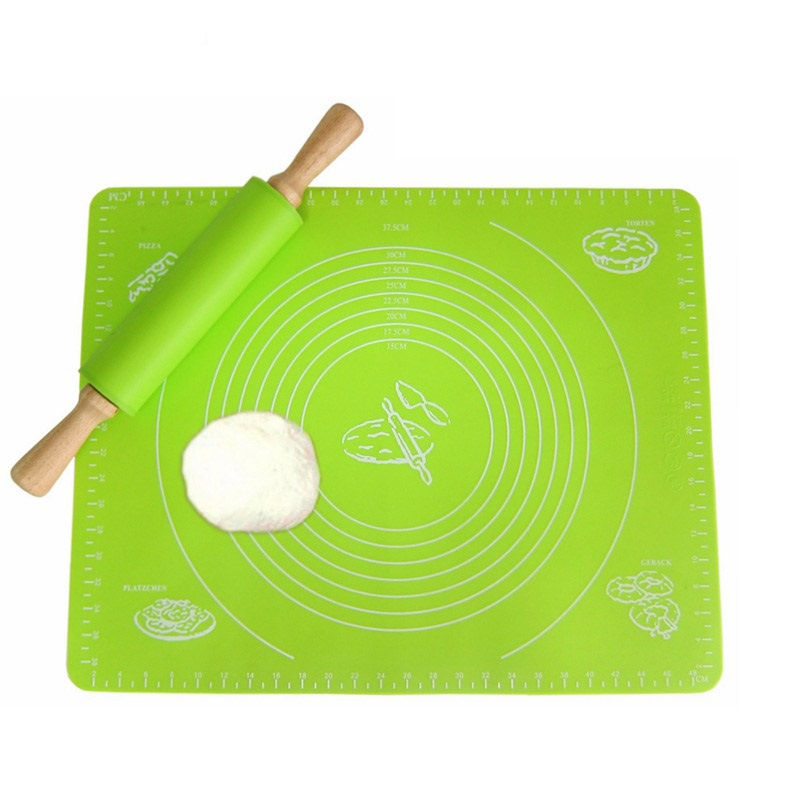 LF Sxsounai Silicone Baking Mat Pizza Dough Maker Pastry Kitchen Gadgets Cooking Tools Utensils Bakeware Kneading Accessories 6