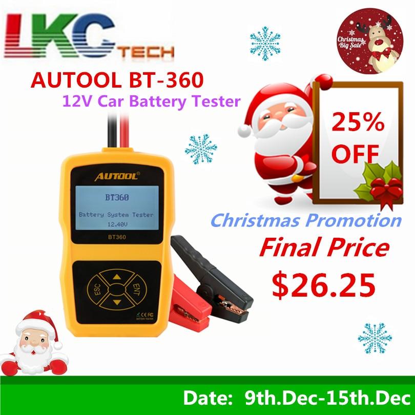 AUTOOL BT-360 BT 360 12 V batería Auto de 2000CCA 220AH Multi-idioma Sistema de carga de batería probador