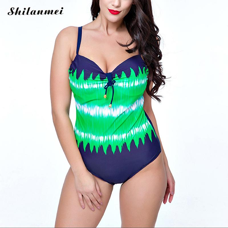 One Piece Swimsuit Sexy Swimwear Women Backless Bathing Suit Swim Summer Beach Wear Print Bandage Monokini Swimsuit PlusSize 8xl sexy plus size swimwear one piece swimsuit women backless monokini trikini halter push up bathing suit beach wear bathing wear
