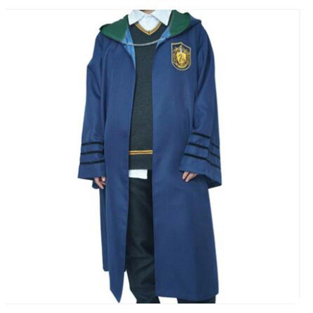 Livraison gratuite Harri Potter Cosplay Costume Robe magique Cape Cape Cape gryffondor Cos noël Halloween Costume pour adulte