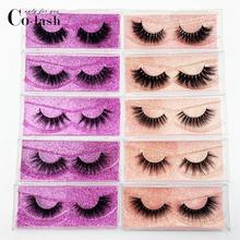 Colash Eyelashes 3D Mink Lashes natural handmade volume soft lashes long eyelash extension real mink for makeup