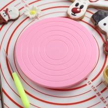 14 см DIY Вращающийся поворотный стол для торта вращающаяся подставка для украшения торта платформа для торта печенья украшения для печенья торта 1 шт