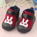Niños zapatos del niño al aire libre 0-1 años de bebé suaves zapatos de las muchachas de calzado zapatos infantiles del algodón del conejo FW025