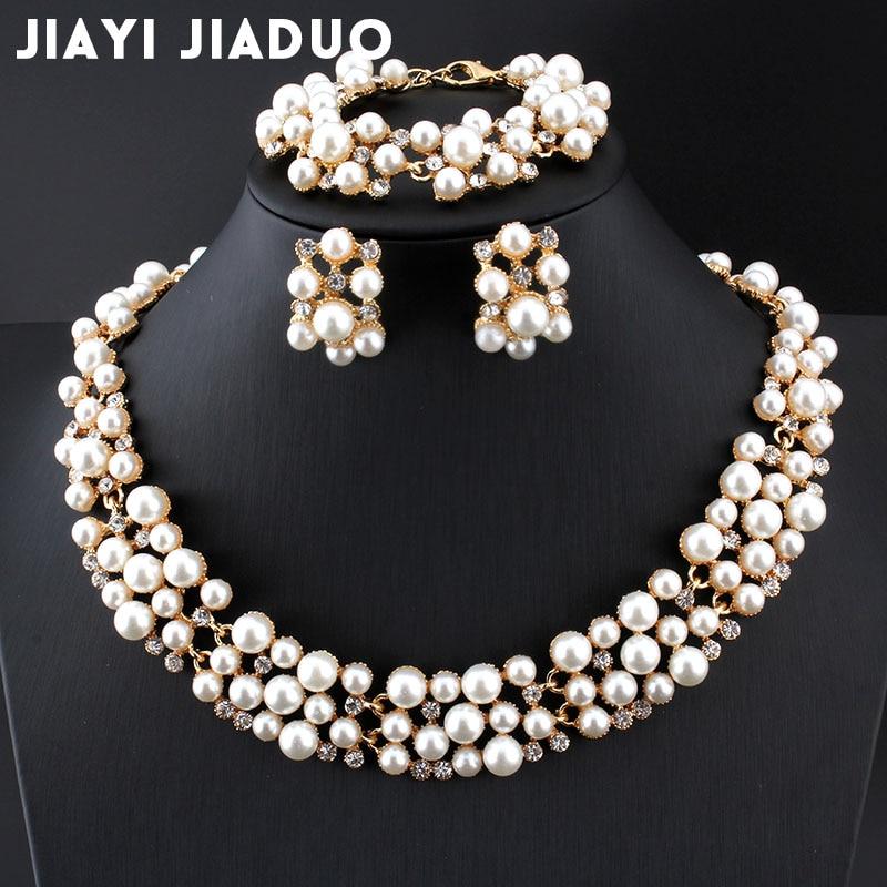 Cheap Pearl Necklace Sets: Jiayijiaduo Wedding Dress Jewelry Set Imitation Pearl
