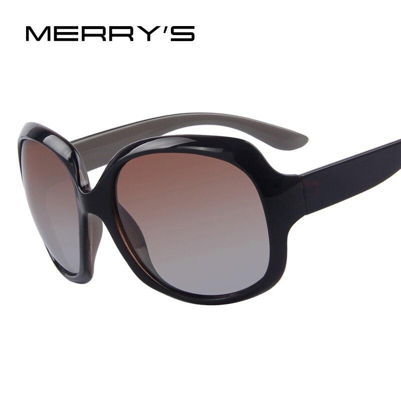 MERRY'S Frauen Luxury Brand Designer Polarisierte Sonnenbrille Mode Schmetterling Gläser