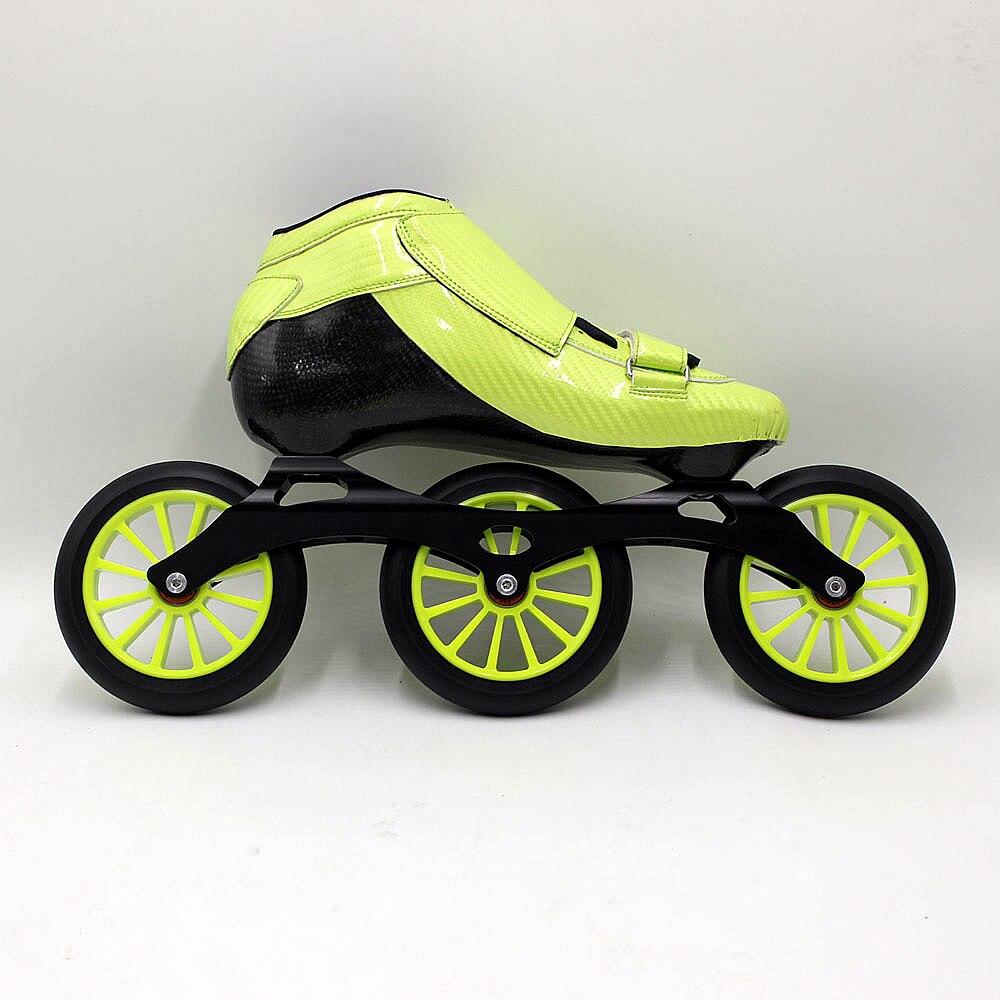 Prix pour Se vendent bien 3x125mm patins de patinage de vitesse de Haute Qualité en fiber de carbone professionnel patins