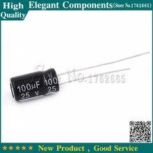 500 PCS 100 UF 25 V 25 V 100 UF Capacitor Eletrolítico de Alumínio 25 V/100 UF Tamanho 6*11 MM Capacitor Eletrolítico
