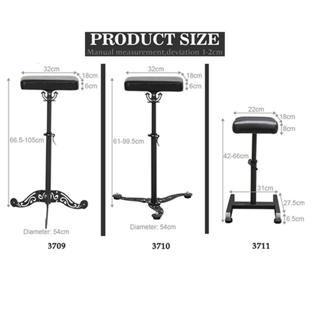 High-end Tattoo Studio Workstation Equipment Support Arm Hand Leg Rest Stand Tray Tattoo Chair Portable Adjustable Salon Chair 3