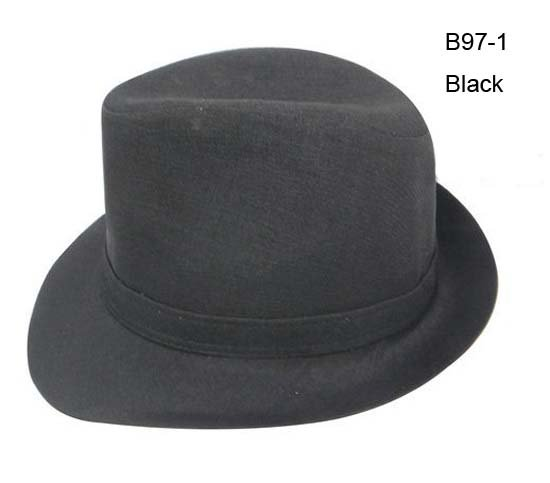 Wholesale EMS Promotion Cheap Special Women Men Black Trilby Hats ... 38d881b34cf