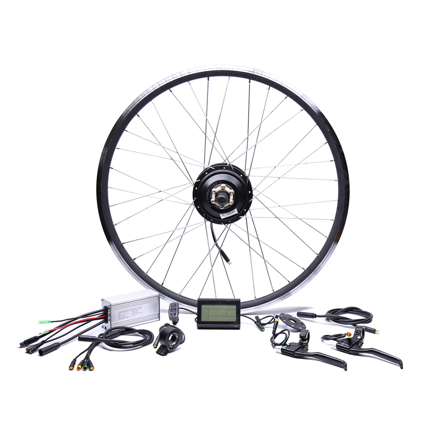 Waterproof 48v500w Bafang Front/rear Electric Bike Conversion Kit Brushless Hub Motor wheel 24v 500w electric mountain bike powerful brushless gearless hub motor 26 rear wheel electric bike conversion kit with lcd meter