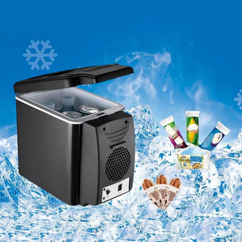 Mini Portable 6L Car Refrigerator Heat Fridge 12V Multi-Function Anti-Rotten Dual Use Car Cool And Hot Refrigerator