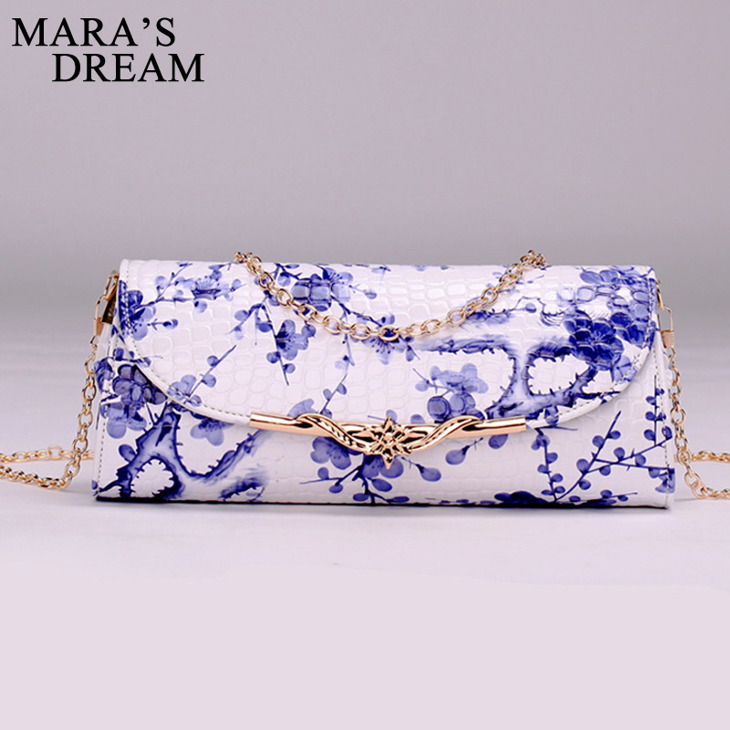 Mara's Dream Shoulder Bags For Women National Style PU Leather Ladies Messenger Bag Crossbody Chinese Style Chain Women Bag xiyuan brand ladies beautiful and high grade imports pu leather national floral embroidery shoulder crossbody bags for women