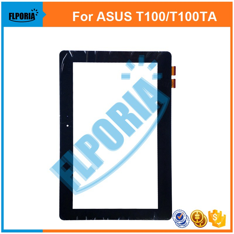 Tablet Touch Panel 10.1'' Inch For ASUS T100/T100TA/5490N With Yellow/Black Flex Touch Screen Digitizer Front Glass tablet touch flex cable for microsoft surface pro 4 touch screen digitizer flex cable replacement repair fix part