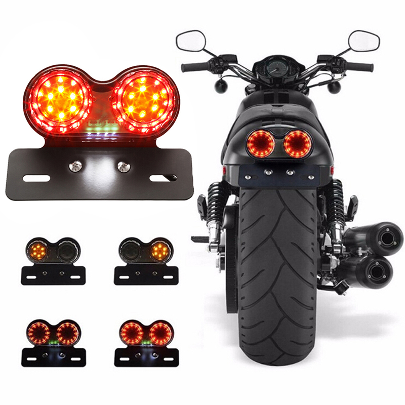 Motorbike LED Rear Stop Tail Light For Retro Cafe Racer And Custom Motorcycles