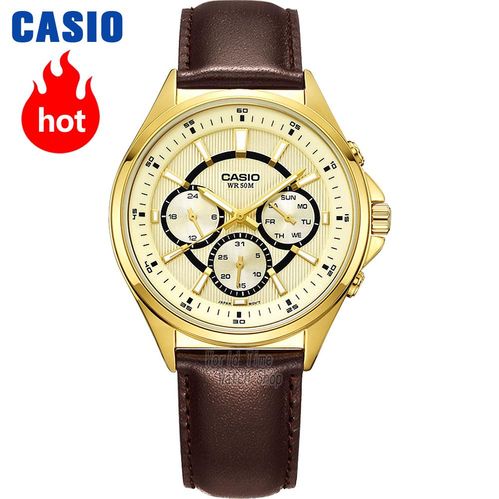 Casio WATCH fashion simple business male watch MTP-E303D-7A MTP-E303L-9A MTP-E303L-7A MTP-E303L-1A MTP-E303GL-9A MTP-E303SG-1A casio mtp 1228d 7a