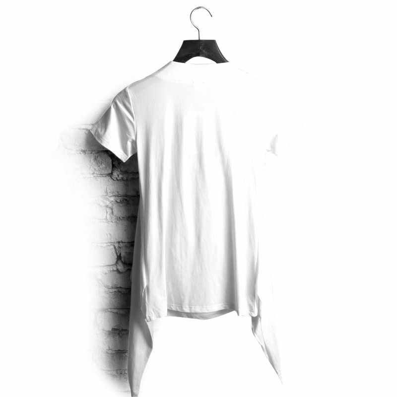 7caab104 ... Non Mainstream Personality Faux Two Piece Male Heap Turtleneck Slim Short  Sleeve T Shirt Trend of ...