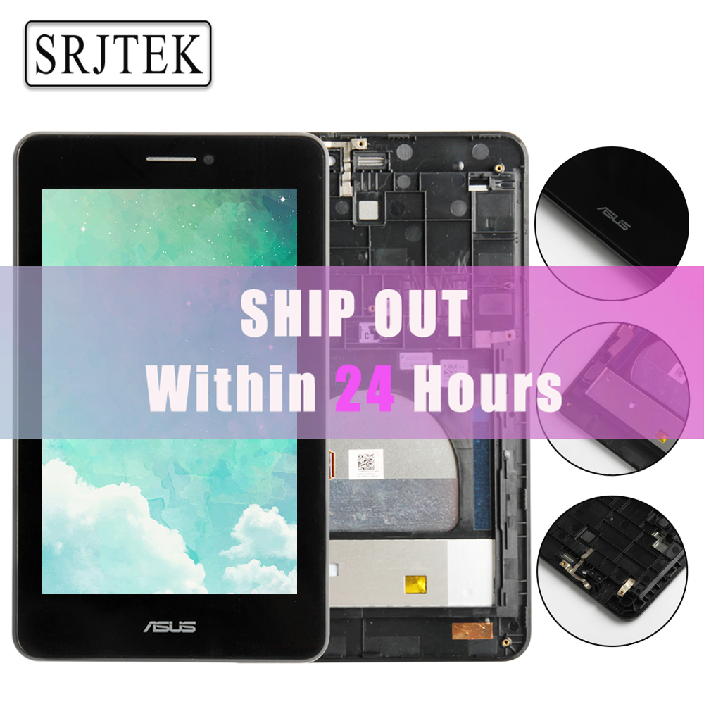Original Parts For For Asus MeMO Pad HD7 ME175CG ME175 K00Z LCD Display Matric Touch Screen Digitizer Sensor Assembly with Frame used parts lcd display monitor touch screen panel digitizer assembly frame for asus memo pad smart me301 me301t k001 tf301t