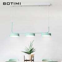 BOTIMI 220V Designer LED Pendant Lights For Dining Room Pendant Lamp Metal Hanglamp Kitchen Luminaria Indoor Lighting Fixture