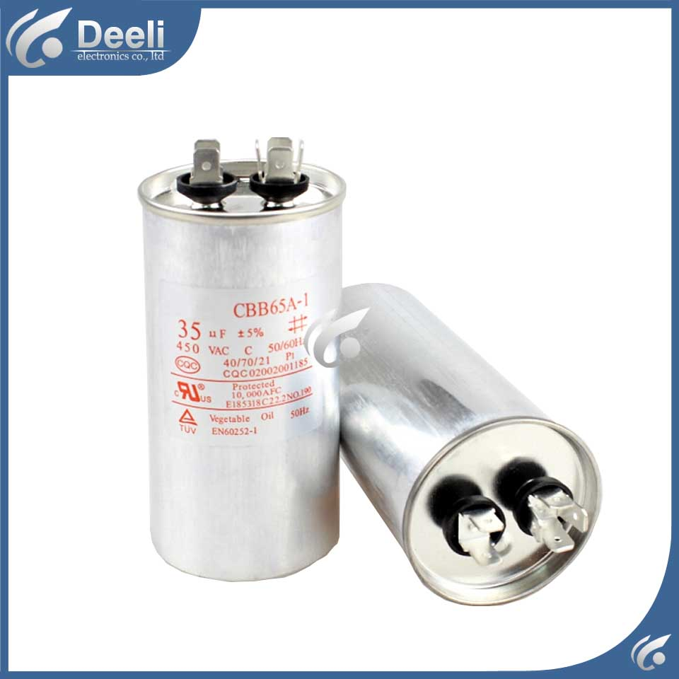 2pcs/lot new good working for Air conditioning capacitor CBB65A-1 CBB65 CBB65A 450VAC 20UF control board cbb65a explosion proof air conditioning compressor start capacitor 25uf30uf35uf40uf50uf60uf70uf80 450v