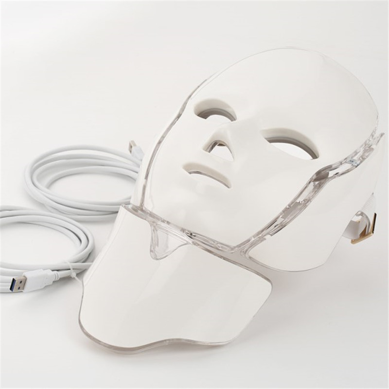 LED light mask home use cosmetology therapy device (10)_