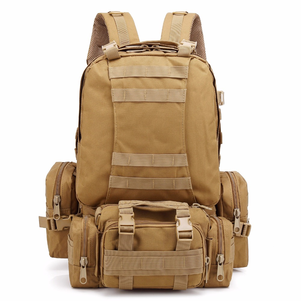 Военный рюкзак 3 дня Assault Pack 35-55L камуфляж тактический Сумка для путешествий Спорт на открытом воздухе восхождение Пеший Туризм Альпинизм
