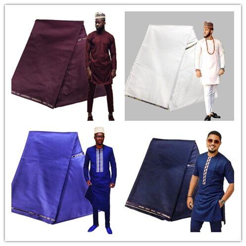 Très haute qualité usine cachemire tissu pour hommes couture chemise très doux sentiment suisse dentelle matériel 10 Yards meilleure qualité atiku