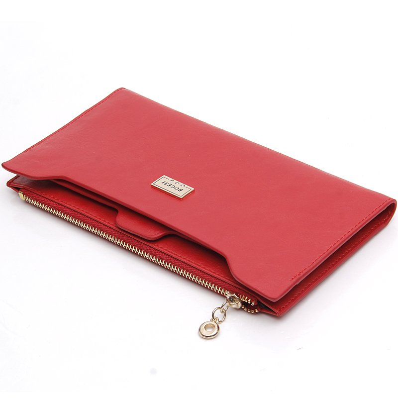 With Zipper Coin Bag New 2016 Women Wallets Brand Purses Female Long Thin Wallet Passport Holder ID Card Case 838 Free Shipping