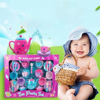RCtown 30 teile/satz Kinder Simulieren Küche Spielzeug Zarte Tee-Set Tasse Spielzeug Spielen-Haus Spielzeug Geschenk