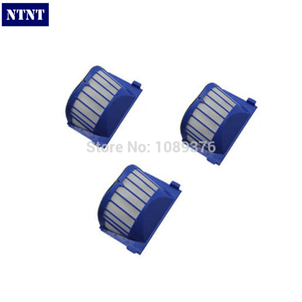 NTNT Free Post New 3 Piece Replacement Filter For iRobot Roomba AeroVac 550 551 Blue Filter
