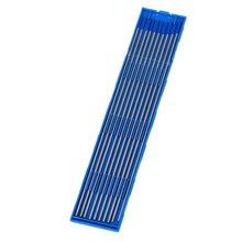 10 шт. 1,6/2,0/2,4x150 мм серебристый и синий наконечник WL20 МОДЕЛЬ TIG сварочные электроды из лантанизированного вольфрама