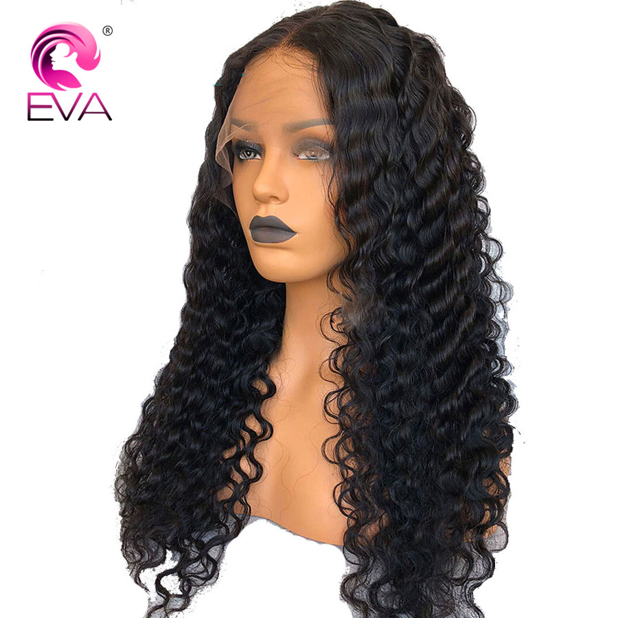 Eva Hair 360 Lace Frontal Wig Pre Plucked With Baby Hair Glueless Lace Front Human Hair Wigs Deep Wave Wig Brazilian Remy Hair