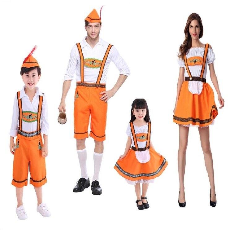 f664bef0c6d US $20.38 |kid adult German Oktoberfest Men Bavarian Lederhosen Beer Girl  Costume Plus Size Halloween Outfit for men women boy girl costume-in ...