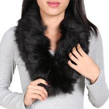 665e193f4a463 Hot Fashion Winter Fashion Luxury Artificial Fox Fur Collar Scarf Warm  Warmer Shawl Wrap Stole White