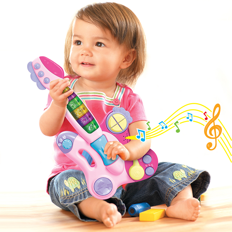 Music Guitar Toy Multifunctional Small Guitar Baby Electronic Organ