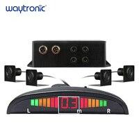 Truck Vehicle Ultrasonic Parking Sensor System LED Reserving Radar Beep Alarm with 4 Reverse Sensors for Trucks 12V 24V