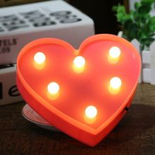 Nights Lamps LED Night Light Romantic 3D Love Heart Marquee Wedding Party Decoration Indoor Decorative