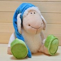 candice guo! Nici plush toy stuffed doll Doze sleep lamb with Nightcap cap Frog shoes appease toy birthday gift 1pc