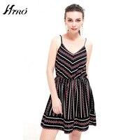 2017 HIRO Summer Dresses Boho Sexy Dress Women Print Vintage Chiffon Vestidos De Fiesta Spaghetti Strap