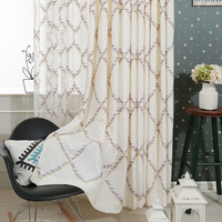 Curtain Pattern Embroidered Window Tulle Curtains For Living Room 3d Cortinas Jacquard Window Voile 3D Translucidus