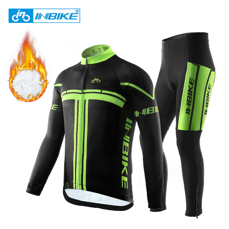 INBIKE 2019 Winter Thermal Fleece Cycling Clothing Pro Bike Clothes Wear MTB Bicycle Jersey Set Maillot