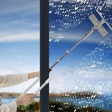 Очиститель стекла Чистящая щётка с 180 Ракель расширение головы полюс микрофибры Ткань для внутреннего и наружного окон