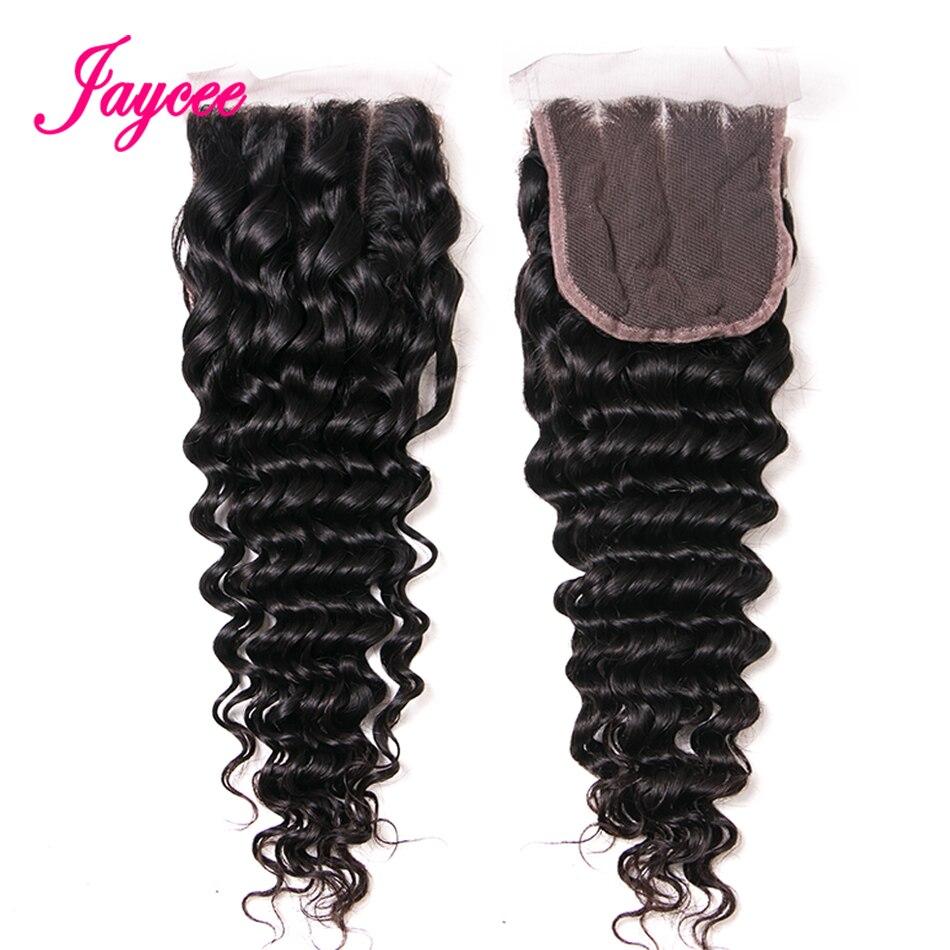 Deep Wave Bundles With Closure Brazilian Hair Weave Bundles With Closure 3/4 bundles Human Hair Virgo Hair Non Remy Free Part