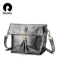REALER women handbags Pu leather messenger bags Serpentine C