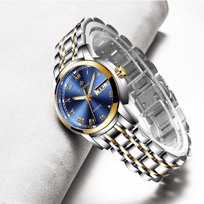 WISIODOIT luksusowa marka zegarka kobiet mody złote zegarki damskie - Zegarki damskie - Zdjęcie 2