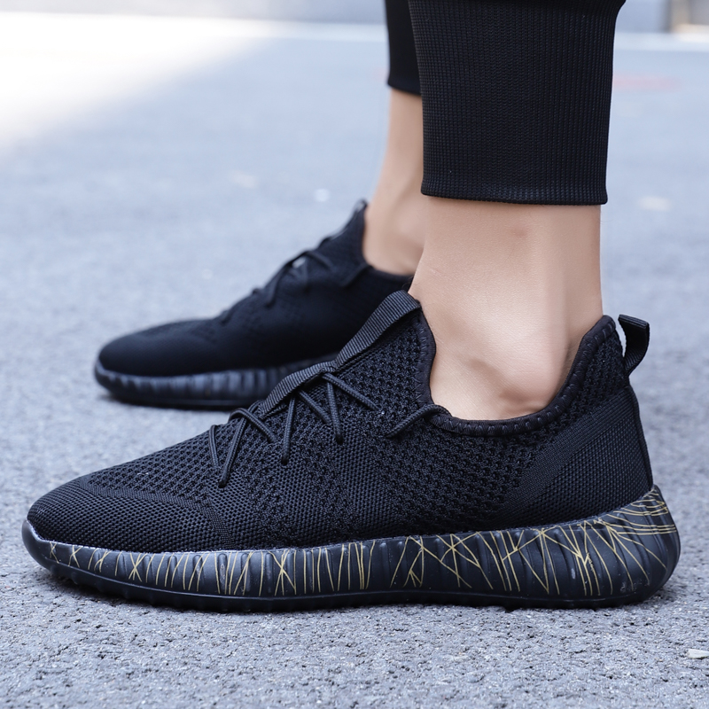 Women/'s Breathable mesh Shoes knit Lace Up Sneakers Casual Low Top running Shoes