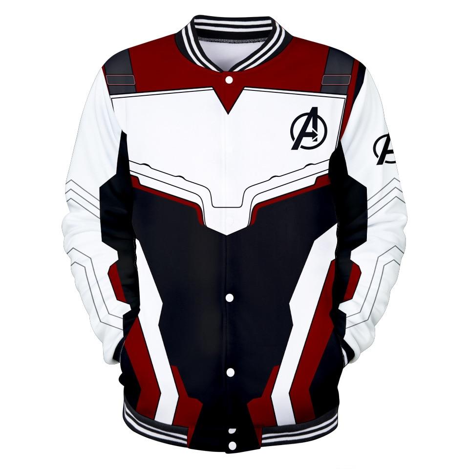 Avengers Endgame Quantum Realm Sweatshirt Jacket Advanced Tech Hoodie Cosplay Costumes  new superhero Baseball uniform
