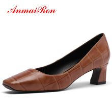 ANMAIRON  Kid Suede Pointed Toe Casual Zapatos De Mujer Women High Heel Pumps Basic Shoes Woman Size 34-39 LY1408